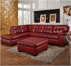 austin top grain leather sectional with ottoman off maurice villency brown leatherfafas used for sale florida in