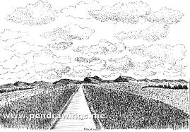 how to draw sky and clouds with pen and ink my pen and ink drawings
