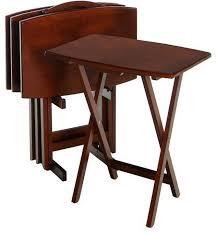 Folding Tray Table Set Enchanting Folding Tray Table Set 13 Best Images About Folding Tv