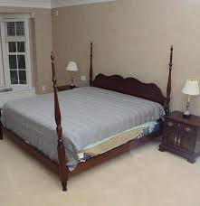 Pennsylvania House Bedroom Furniture Pennsylvania House Cherry Cannonball Bed And Nightstands Ebth