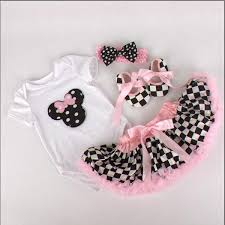 2017 baby minnie mouse sweet cake clothes tutu birthday clothing