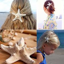 starfish hair clip 1x real starfish hair clip wedding bridal sea shell pin