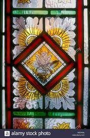 Flower Glass Design Decorative Stained Glass Panel Hand Painted Victorian Flower