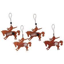 rodeo cowboy metal ornaments 18600 buffalo trader