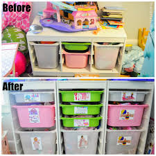 Storage Solutions For Kids Room by Small Space Toy Storage Solution Easy Diy Toy Labels And A Peek