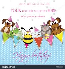 Invited Card For Birthday Invitation Card Celebration Birthday Party Welcome Stock Vector