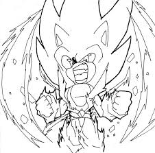 super sonic free coloring pages on art coloring pages