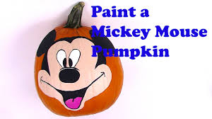 mickey mouse painting pumpkin face paint mickey mouse