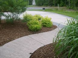 Patio Broom by Concrete Stamped Border Driveway With Broom Finish Interior