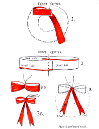 christmas ribbon bows make an easy no tie bow for your christmas wreath fred gonsowski