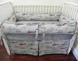 Vintage Aviator Crib Bedding Airplane Crib Bedding Etsy