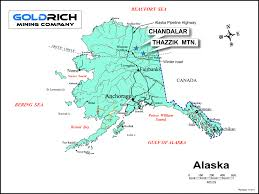 Bethel Alaska Map by Goldrich Mining Company