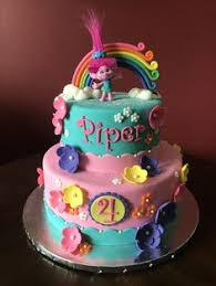 trolls birthday cake tiered cakes pinterest birthday cakes