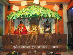 Home Decoration Of Ganesh Festival by Ganpati Decoration Ideas Devendra Blog