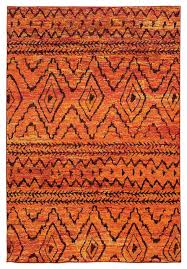 Red Tribal Rug Crete Tribal Orange And Red Rug 5 U00273