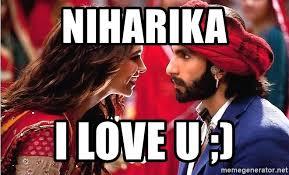 Bollywood Meme Generator - niharika i love u bollywood meme meme generator