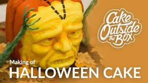 Pumpkin Halloween Cake by Making Of Halloween 3d Cake Sculpted 3d Pumpkin Cake Cake