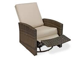 Whitecraft Patio Furniture Whitecraft Oasis Mocha Wicker Swivel Lounge Chair Fabric Choice