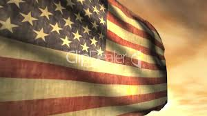 American Flag Sunset 1040 Weathered American Flag Blowing In Sunset Wind Animation