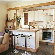 Small Country Style Kitchen Kitchen Open Plan Country Style Kitchen Living Room With Breakfast Bar