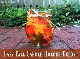 easy fall candle holder decor life is poppin u0027