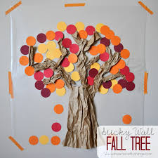 contact paper sticky wall fall tree i heart crafty things