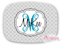 personalized melamine platters personalized melamine platter monogrammed platter the pink paisley