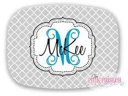 personalized melamine platter personalized melamine platter monogrammed platter the pink paisley