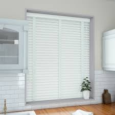 50mm pure white venetian blind with cotton tapes real wood from