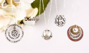 personalized jewlery personalized jewelry aj s collection groupon