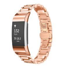 steel link bracelet images Fitbit charge 2 stainless steel link bracelet rose gold buy jpg