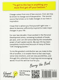 amazon com the life changing life changing quotes barry phillips 9781908691415 amazon com books