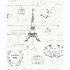 Paris Wallpaper For Bedroom by K2 All Rooms Paris Black White Collage Wallpaper 288296 Pattern