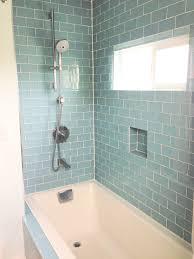 Bathroom Shower Tub Tile Ideas by Cute Bathroom Shower Glass Tile Ideas