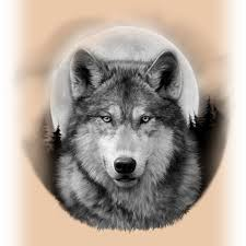 wolf and moon tattoos