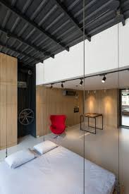 small and modern apartment on roof an old building