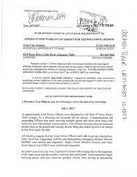Arkansas Emergency Travel Document images Document arrest affidavit in little rock nightclub shooting jpg