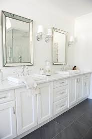 master bathroom white neutrals a pop of pink win in this blogger home master bathrooms