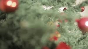african american boy decorating christmas tree stock video footage