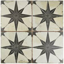 somertile 17 625x17 625 inch estrella nero ceramic floor and wall