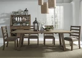 Trestle Dining Room Table by Liberty Furniture Prescott Valley 7pc Trestle Dining Set In