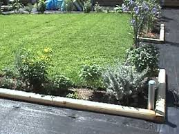 Cedar Landscape Timbers by Gardening Tips Landscape Timber Borders Mpg Youtube