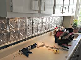 Kitchen Backsplash Tin Interior Charming Tin Backsplash Qith White Kitchen Cabinets And