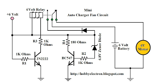 mini auto charger fan circuit wiring diagram