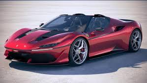 ferrari coupe 2017 ferrari j50 2017 3d turbosquid 1179560