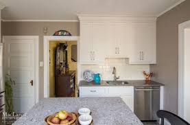 White Shaker Cabinets Kitchen White Shaker Cabinets With Cracked Pepper Quartz Perimeter And
