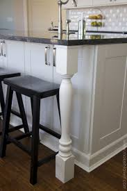 stylish kitchen island granite top overhang with straight edge
