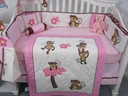 Soho Crib Bedding Set Soho Pink Monkey Baby Crib Nursery Bedding Set 13 Pcs