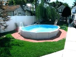 Backyard Above Ground Pool Ideas Above Ground Pool Landscaping Photos Landscaping Around An Above