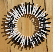 Music Themed Home Decor by Music Wreath Piano Keys Wreath Musical Notes Treble Clef